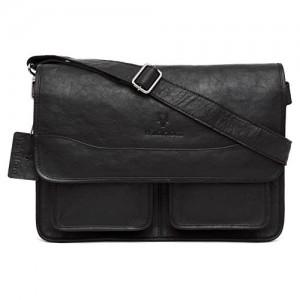 WildHorn Urban Edge 100 % Genuine Leather Laptop Messenger Bag DIMENSION : L-15 inch W-4 inch H-10.5 inch