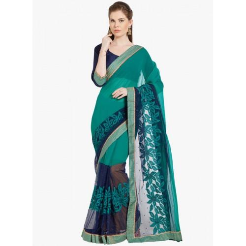 Indian Women's bridal saree with blouse pcs
