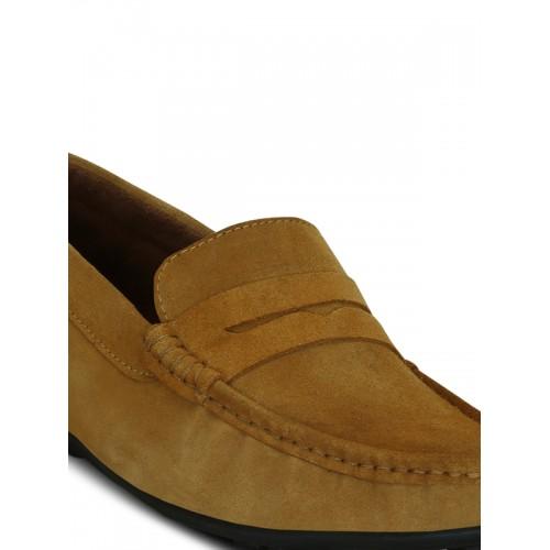 KIELZ tan Suede slip on loafer