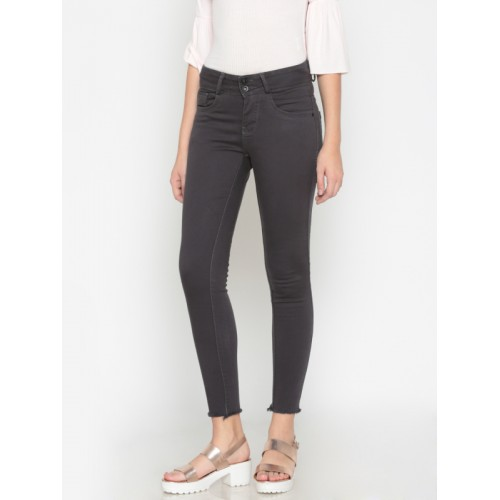 so cheap temperament shoes release info on Buy Code 61 Women Charcoal Grey Jeggings Skinny Fit Mid-Rise ...
