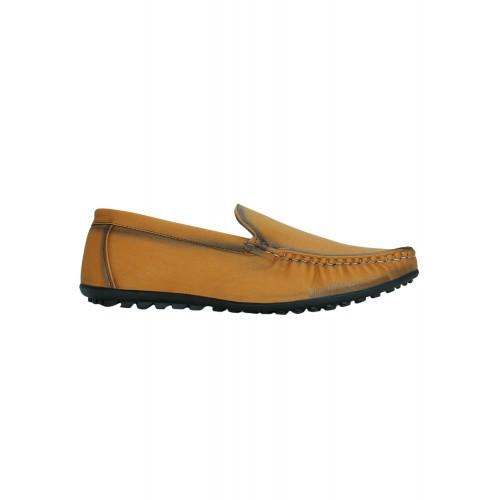 KIELZ tan leatherette office wear loafer