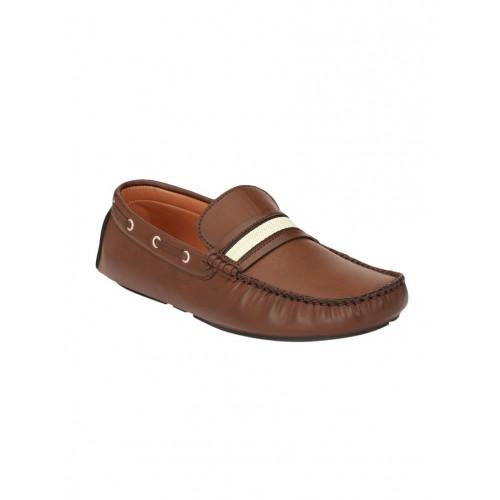 Guava brown leatherette slip on loafer