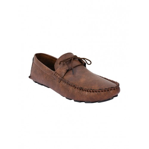 Foot N style brown leatherette slip on loafer