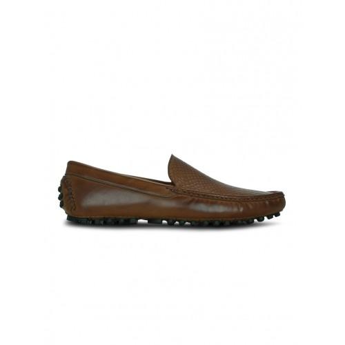 KIELZ tan leatherette slip on loafer