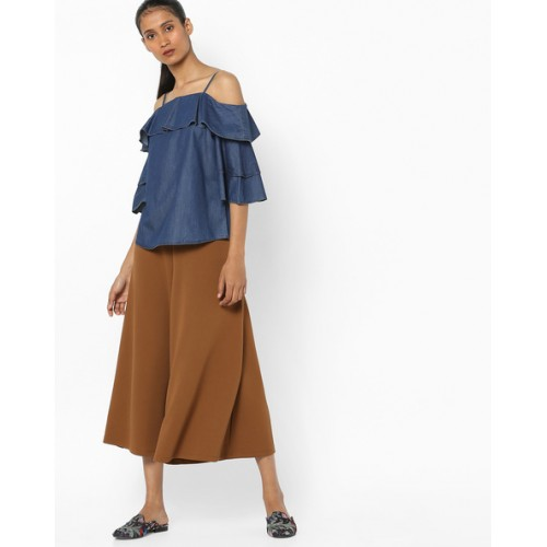 KRAUS Strappy Ruffled Top