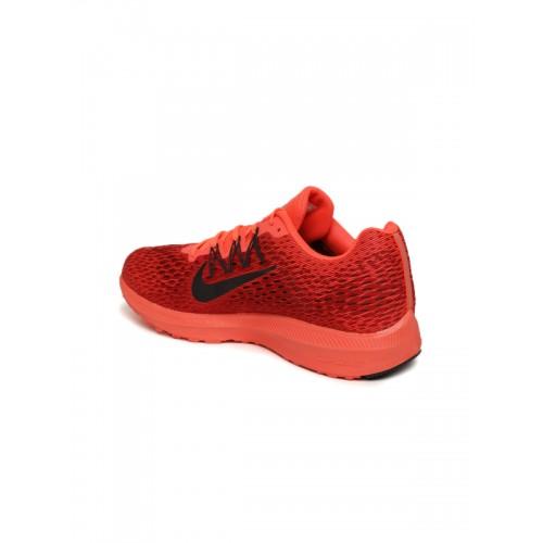 ... netherlands nike men fluorescent orange red printed air zoom winflo 5  running shoes 58c54 ebff5 c10adc84c
