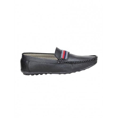 KOXKO black leatherette slip on loafer