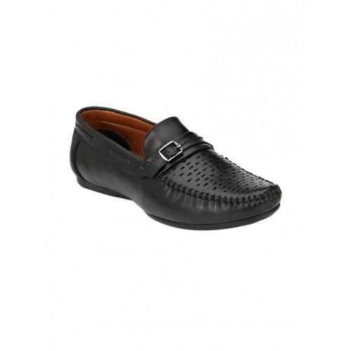 REAL BLUE black Leather slip on loafer