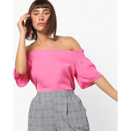 Vero Moda Off-Shoulder Top with Ruffled Flared Sleeves