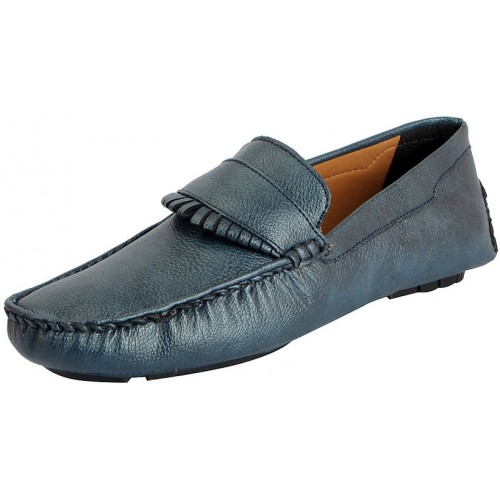 FAUSTO Blue Men's Stylish Loafers