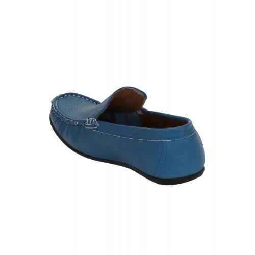 KIELZ blue leatherette office wear loafer