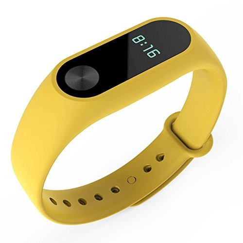 Maisha Silicon Sweat Resistant Replacement Strap Band for Mi Xiaomi Fitness Band 2 & HRX Band- Yellow