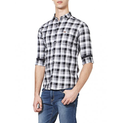 People black cotton casual shirt