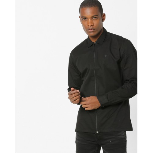 DNMX Shacket with Buttoned Cuffs