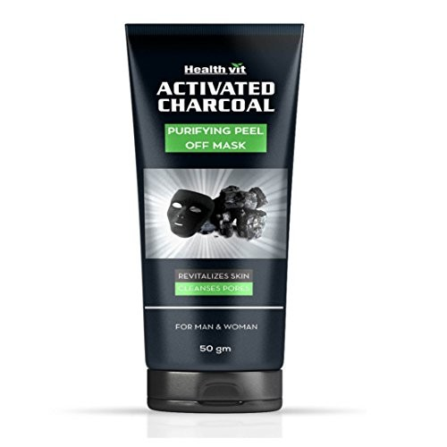 Healthvit Activated Charcoal Purifying Peel off Mask - 50g