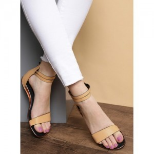 Roadster Roadster Women Beige Solid Open Toe Flats
