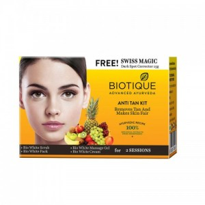 Biotique Anti Tan Facial Kit + Free Swiss Magic Dark Spot Corrector