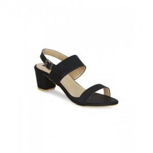 1e68354486b KIELZ black faux leather back strap sandals