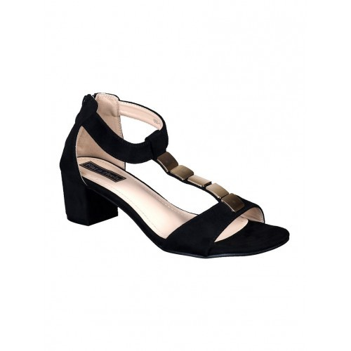 a9f110b45fb89 Buy flat n heels black suede ankle strap sandals online
