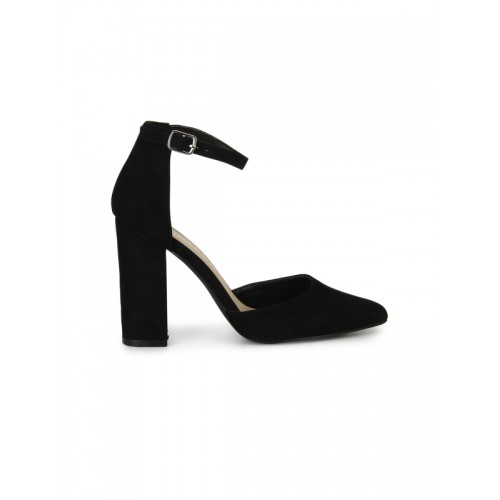 Truffle Collection black patent leather ankle strap sandals