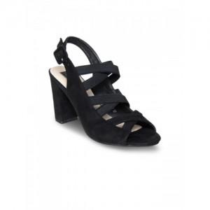 flat n heels black suede back strap sandals