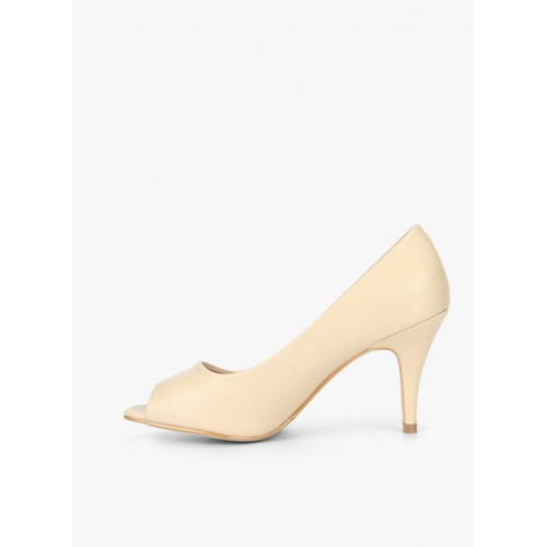 Carlton London Women Skin Color-Coloured Solid Peep Toes