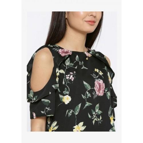 1dfdcc7b6b717 Buy Sera Women s western wear Cold shoulder shift dress online ...