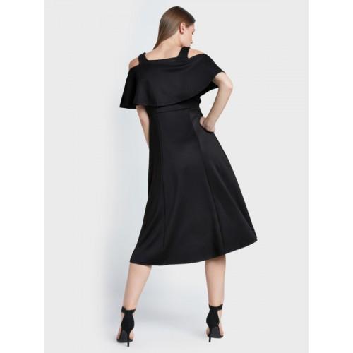 AND Women Black Embellished A-Line Dress