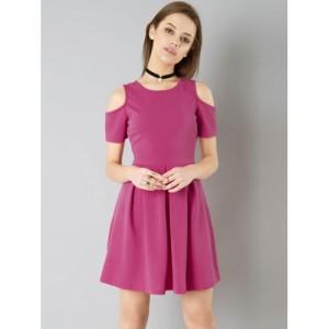 43ecc792d8ab0 Buy Faballey Navy Blue Denim Overall Dress online | Looksgud.in