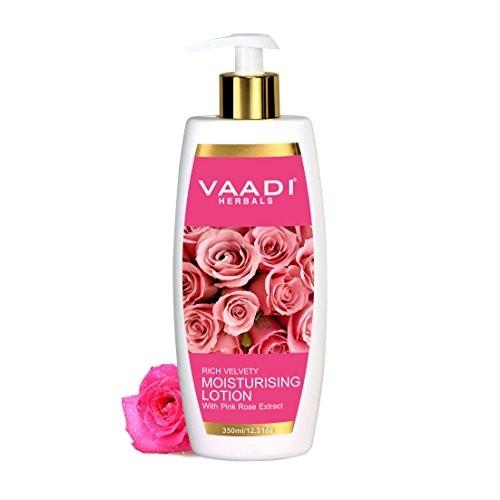 Vaadi Herbals Moisturising Lotion with Pink Rose Extract, 350 ml