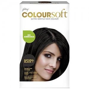 Godrej Coloursoft Hair Colour, Natural Black, 80ml + 24g