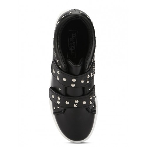 Truffle Collection black patent leather plimsolls casual shoes