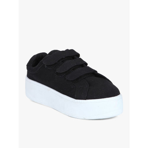 Truffle Collection Black Synthetic Lace Up Casual Shoes