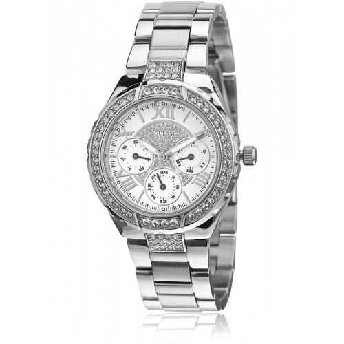 GUESS Women White Dial Watch W0111L1