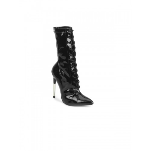 94d570006aa Buy Truffle collection Pointed-Toe Lace-Up Boots online | Looksgud.in