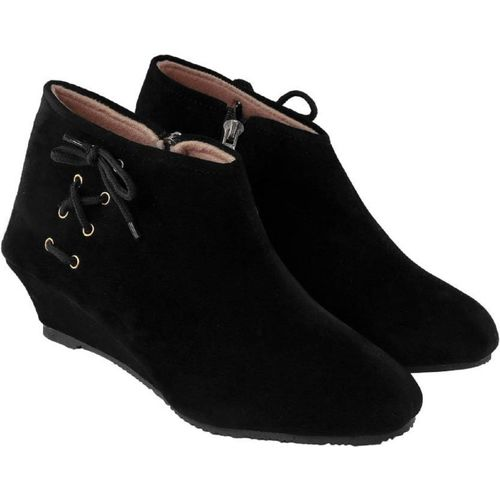 Sppif Black Synthetic Smart Casual Boots