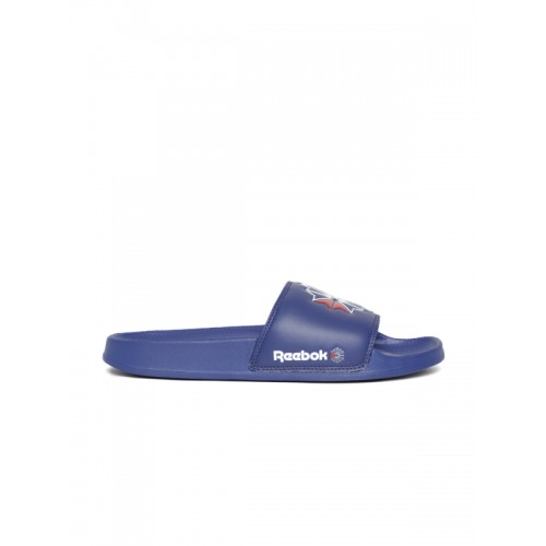 3db283485b0 Buy Reebok Classic Unisex Blue Printed Sliders online