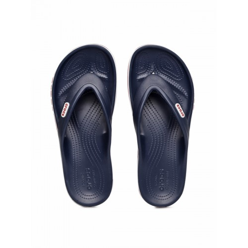 Crocs Unisex Navy Blue Solid Thong Flip-Flops