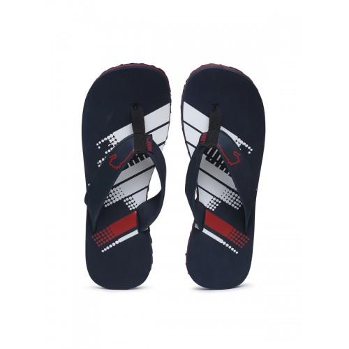 Buy Puma Unisex Blue   Red Printed Thong Flip-Flops online ... bcd48d390