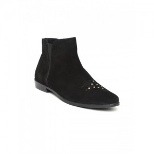Carlton London Black Chelsea Ankle Length Boots