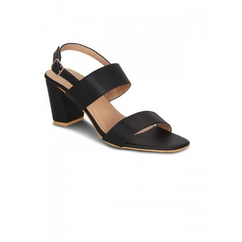 1a1f63d81686dc Buy Get Glamr Women Black Solid Sandals online