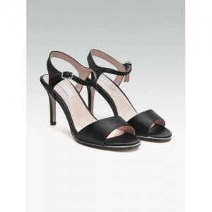 Dorothy Perkins Senorita Black Ankle Strap Stilettos
