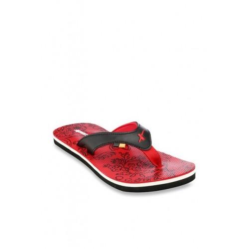 Sparx Black & Red Flip Flops