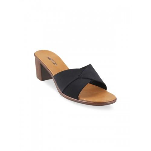 Buy Metro Women Black Solid Block Heels