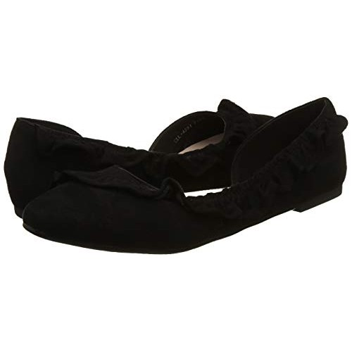 Carlton London Women's Black Flat Synthetic Ballet