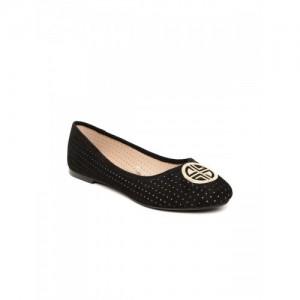 Carlton London Black Belly Shoes