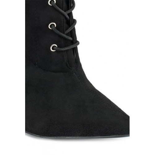 Truffle Collection Black Stiletto Heeled Booties