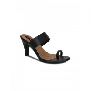 Get Glamr Women Black Solid Slim Heels