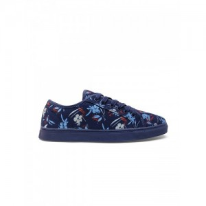 United Colors of Benetton Women Navy Blue Floral Print Sneakers