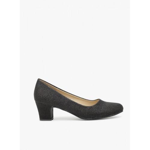 Flat n Heels Black Belly Shoes
